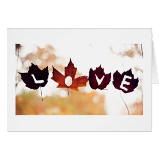 *****LOVE YOU****** SAY IT IN LEAVES FOR ANY TIME CARD
