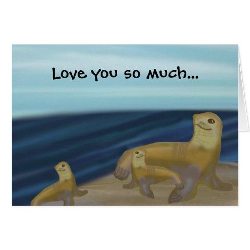 Love you Sea Lion Card