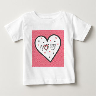 Love You So Much Romance Pink Heart Cute Sweet Baby T-Shirt