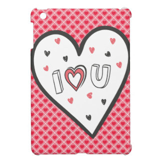 Love You So Much Romance Pink Heart Cute Sweet Case For The iPad Mini