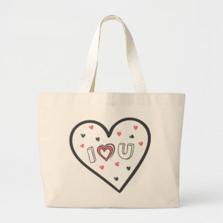 Love You So Much Romance Pink Heart Cute Sweet Large Tote Bag