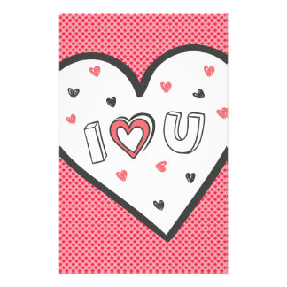 Love You So Much Romance Pink Heart Cute Sweet Stationery
