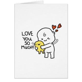 Love you so much Valentine Card