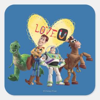Love You Square Sticker