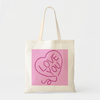 Love You Stitched Heart Tote