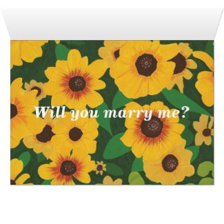 Love you, Sunflowers Marriage Proposal Card