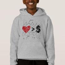 love you t grunge hoodie