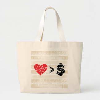 love you t lines tote bags