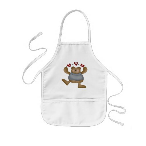 Love You Teddy Bear T-shirts and Gifts Apron
