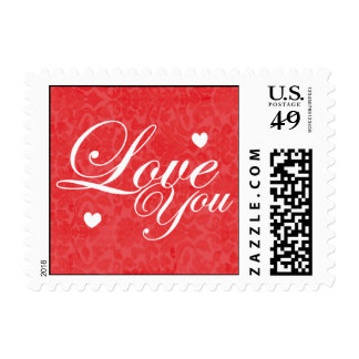 Love You Text Art Postage