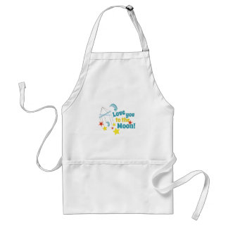 Love You The Moon! Adult Apron