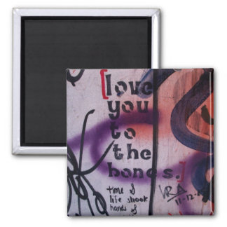 Love You to the Bones 2 Inch Square Magnet