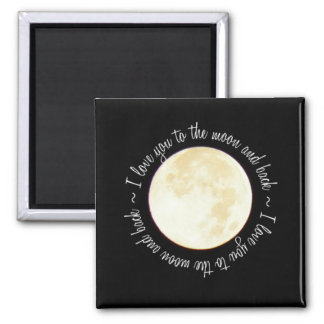 Love You to the Moon 2 Inch Square Magnet