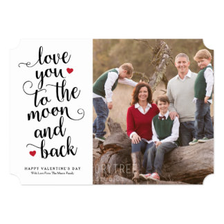 Love You To The Moon And Back 5x7 Paper Invitation Card