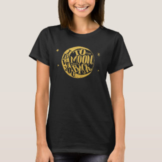 Love You To The Moon And Back Cute Whimsical T-Shirt