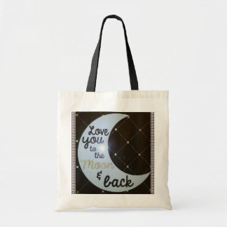 Love You To The Moon and Back Diamonds Tote Bag