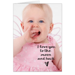 Love you to the moon and back heart card