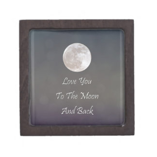 Love You To The Moon And Back Jewelry Box