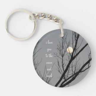 Love you to the Moon and Back, Night Sky Key Chain