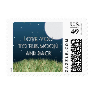 Love You to the Moon and Back Postage
