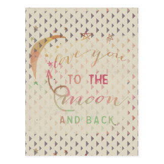Love You to The Moon and Back Postcard