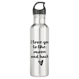 Love you to the Moon and back Water Bottle