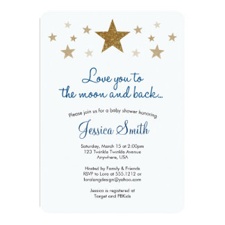 Love You to the Moon & Back Baby Shower Invitation