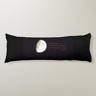 Love You to the Moon Body Pillow