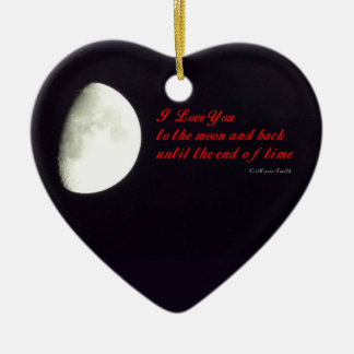 Love You to the Moon Ceramic Ornament