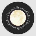 Love You to the Moon Classic Round Sticker