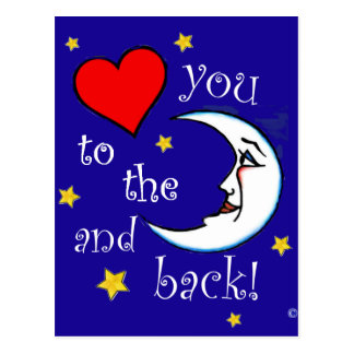 Love You to the Moon Postcard