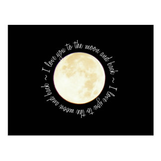 Love You to the Moon Post Card