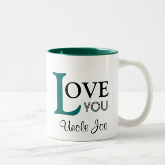 Love You Uncle Custom Name Two-Tone Coffee Mug