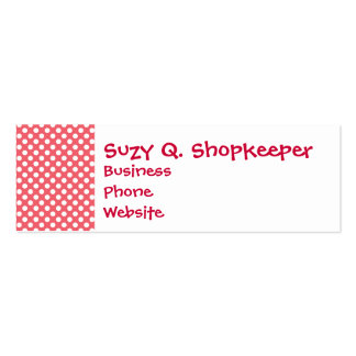 Love You Valentine s Day Gifts on Pink Polka Dots Business Card