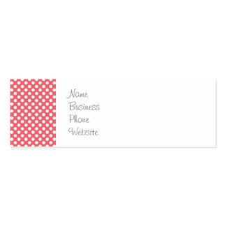 Love You Valentine s Day Gifts on Pink Polka Dots Business Card Templates