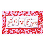 Love You Valentine's Gift Tag Business Card Templates