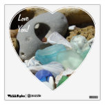 Love You! wall decal Blue Seaglass Fossil Rocks