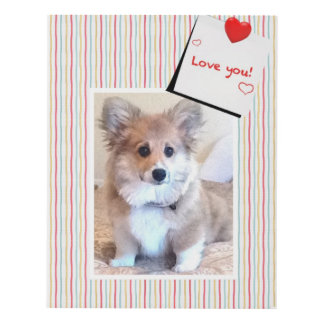 Love You Welsh Corgi Puppy Panel Wall Art