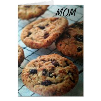 LOVE YOU WHEN U BAKE COOKIES MOM CARD