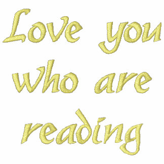 """""""Love you who are reading"""" Embroidered Shirt"""