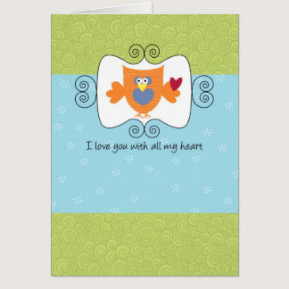 Love You With All My Heart Card