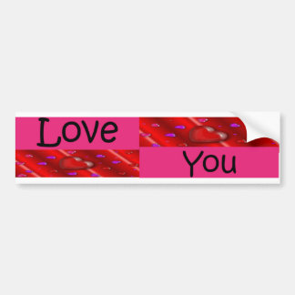 Love You with Heart Boxes Bumper Sticker