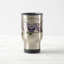 Love you with Owl my heart, cute Owls art gifts Travel Mug