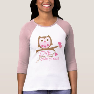 Love you with OWL My Heart T-Shirt