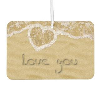 """Love you"" written in Sand - Air Freshener"