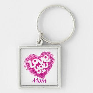 Love you x Mom keychain