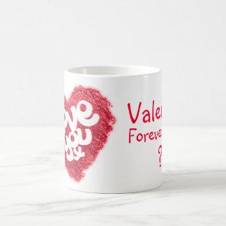 """Love you x"" Valentine red pink mug"