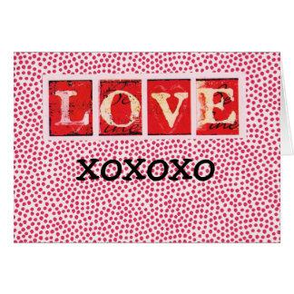 LOVE YOU, xoxoxo Card