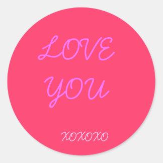 LOVE YOU, XOXOXO CLASSIC ROUND STICKER