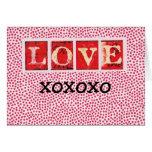 LOVE YOU, xoxoxo Greeting Card